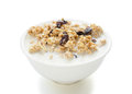 Wholegrain muesli delicious and healthy with clipping path Stock Photos