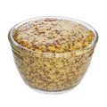 Wholegrain mustard cutout front to back focus clipping path Stock Photos