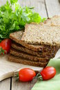 Wholegrain rye bread with bran and seeds healthy eating Stock Photography