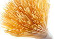 Wholegrain spaghetti pasta isolated on white Royalty Free Stock Photo