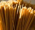 Wholegrain wheat pasta close up of Stock Photo