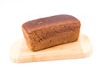 Wholemeal bread loaf of over white background Royalty Free Stock Photography