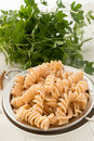 Wholemeal noodles a fresh and tasty Royalty Free Stock Photography