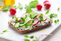 Wholemeal sandwiches with vegetables Stock Photos