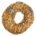 Wholemeal Seeded Bagel Stock Images