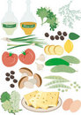 Wholesome food Salad..Pattern.Background Royalty Free Stock Image