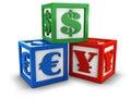 Währungsblöcke Stockfoto