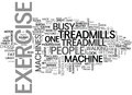Why Choose Treadmills Over Other Exercise Machines Word Cloud