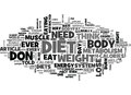 Why Diets Don T Work Word Cloud Royalty Free Stock Photo