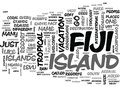 Why Fiji Word Cloud Royalty Free Stock Photo