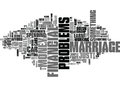 Why Let Financial Problems Ruin Your Marriage Word Cloud Royalty Free Stock Photo