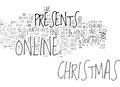 Why Not Buy Your Christmas Presents Online Word Cloud Royalty Free Stock Photo