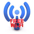 Wi fi abstract on white background done in d Royalty Free Stock Photo