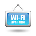 Wi-fi available sign Stock Photos