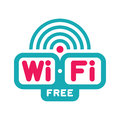Wi fi free zone vector logo sign original Stock Photo