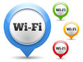 Wi fi icon four colors Stock Photography