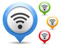 Wi fi icon four colors Royalty Free Stock Photos