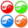 Wi-Fi icon set Stock Photos