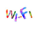 Wi-fi. Inscription of triangular letters