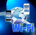 Wi-fi mobile wireless network Royalty Free Stock Photos