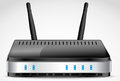 Wi fi router vector detailed Royalty Free Stock Image