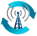 Wi fi tower cycle illustration design Royalty Free Stock Photo