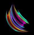 Wibrujący farby szczotkarski uderzenie Zdjęcie Stock