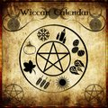 Wicca calendar Royalty Free Stock Photo