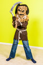 Wicked scarecrow kids halloween costume of Royalty Free Stock Image
