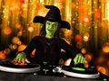 Wicked Witch DJ Royalty Free Stock Photo