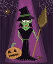 Wicked Witch halloween character vector Stock Images