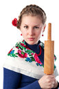 Wicked woman in the ukrainian style Stock Images