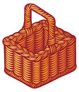 Wicker basket brown picnic Royalty Free Stock Images