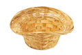 Wicker basket empty on white background Royalty Free Stock Photography
