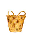 Wicker basket isolated on a white background Stock Photography