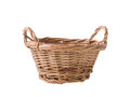 Wicker basket isolated on white background Stock Image