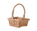 Wicker basket isolated on white background Stock Images