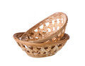 Wicker basket isolated on white background Royalty Free Stock Images