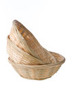 Wicker basket isolated on white background Royalty Free Stock Image