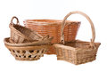Wicker basket isolated on white background Royalty Free Stock Photos