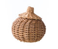 Wicker basket isolated on white background Royalty Free Stock Photography