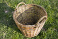 Wicker basket large use in garden Stock Image