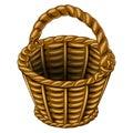 Wicker basket made of wicker