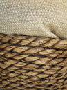Wicker basket sack Royalty Free Stock Images