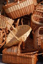 Wicker baskets Stock Photography