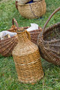 Wicker baskets Stock Image