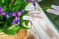 Wicker Baskets With Flowers