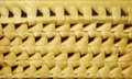 Wicker baskets fragment of bread texture Stock Image