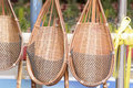 Wicker or basketwork for tree planting this picture is that made from bamboo it is art and very beautiful Stock Images