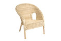 Wicker comfortable armchair isolated Royalty Free Stock Photo